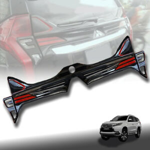 REAR COVER TAILGATE GLOSS BLACK LED FOR MITSUBISHI PAJERO SPORT 2015 16 17 18