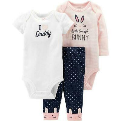 Short and Long Sleeve Simple Joys by Carters Baby Girls 6-Piece Bodysuits and Pants Set
