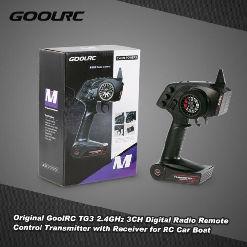 GoolRC TG3 2.4GHz 3CH Remote Control Transmitter with Receiver for RC Car T0C5