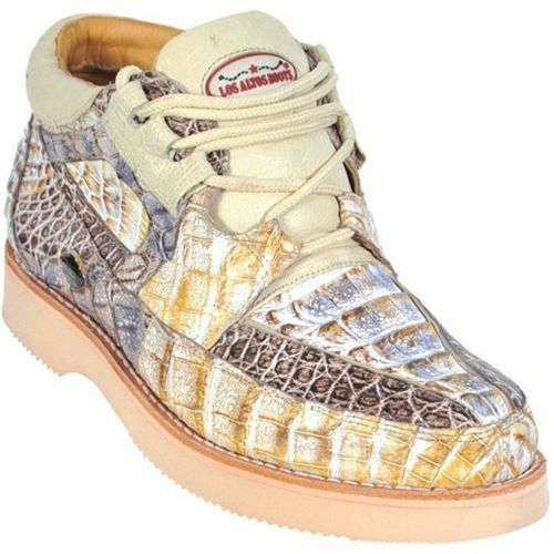 Los Altos Genuine NATURAL Full Caiman Crocodile Casual shoes Lace Up D