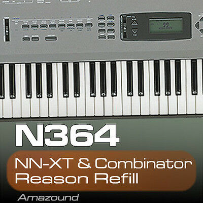 KORG N364 REASON REFILL 77 COMBINATOR & NNXT PATCHES 1119 SAMPLES 24BIT MAC PC
