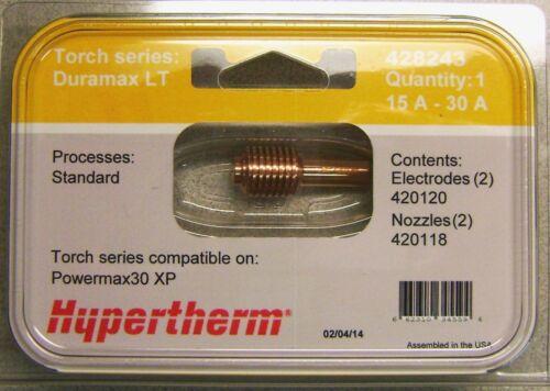 Hypertherm Genuine Powermax 30 XP Standard Electrodes /& Nozzles 428243