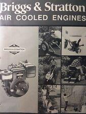 Briggs Stratton 1983 Air Cooled Engine Sales Brochure Catalog Manual