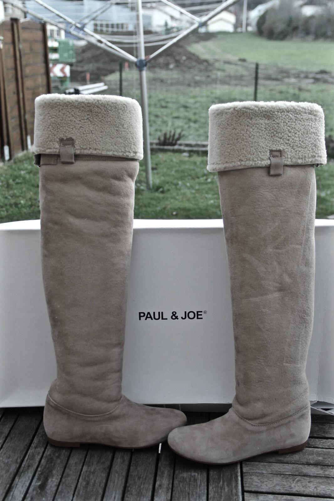 Boots hide returned beige PAUL & JOE carlie P 36 (UK 3,5) NEW value