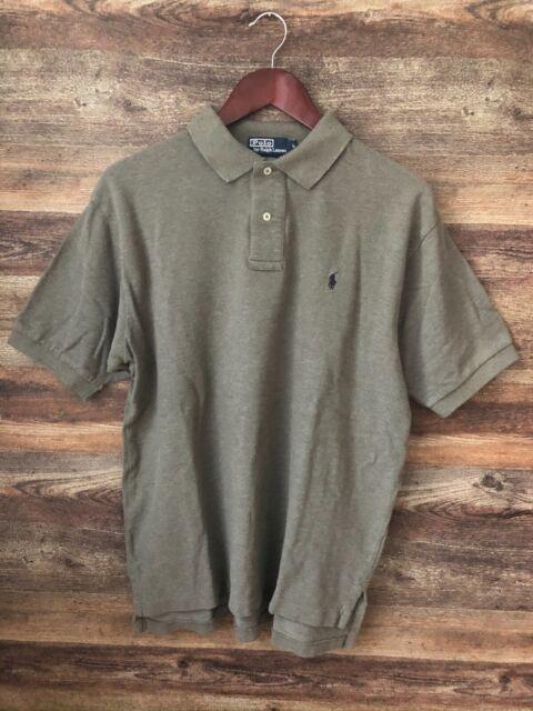 Mens Polo by Ralph Lauren Green Short Sleeve Golf Shirt, Size Large