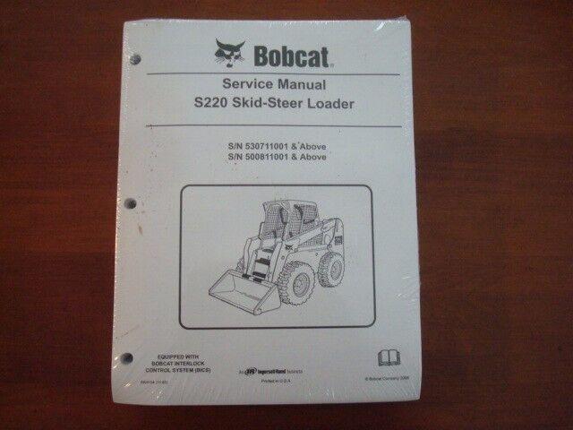 NEW GENUINE BOBCAT S220 SKID STEER SERVICE MANUAL  BK48