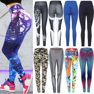 Women Push Up Scrunch Yoga Pants Sport Leggings Fitness Jogger Running Trousers