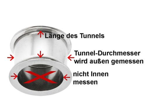Piercing Decoración de Oreja Flesh Tunnel Ojal Disimulador Retenedor Acrílico IN