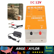 Dc 12v Solar Electric Fence Energizer Charger Kit For Animals Poultry Controller