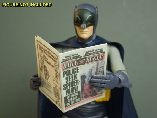 """Daily Bugle for Spiderman Peter Parker /""""Police Seek.../"""" 1//12 Scale Newspaper"""