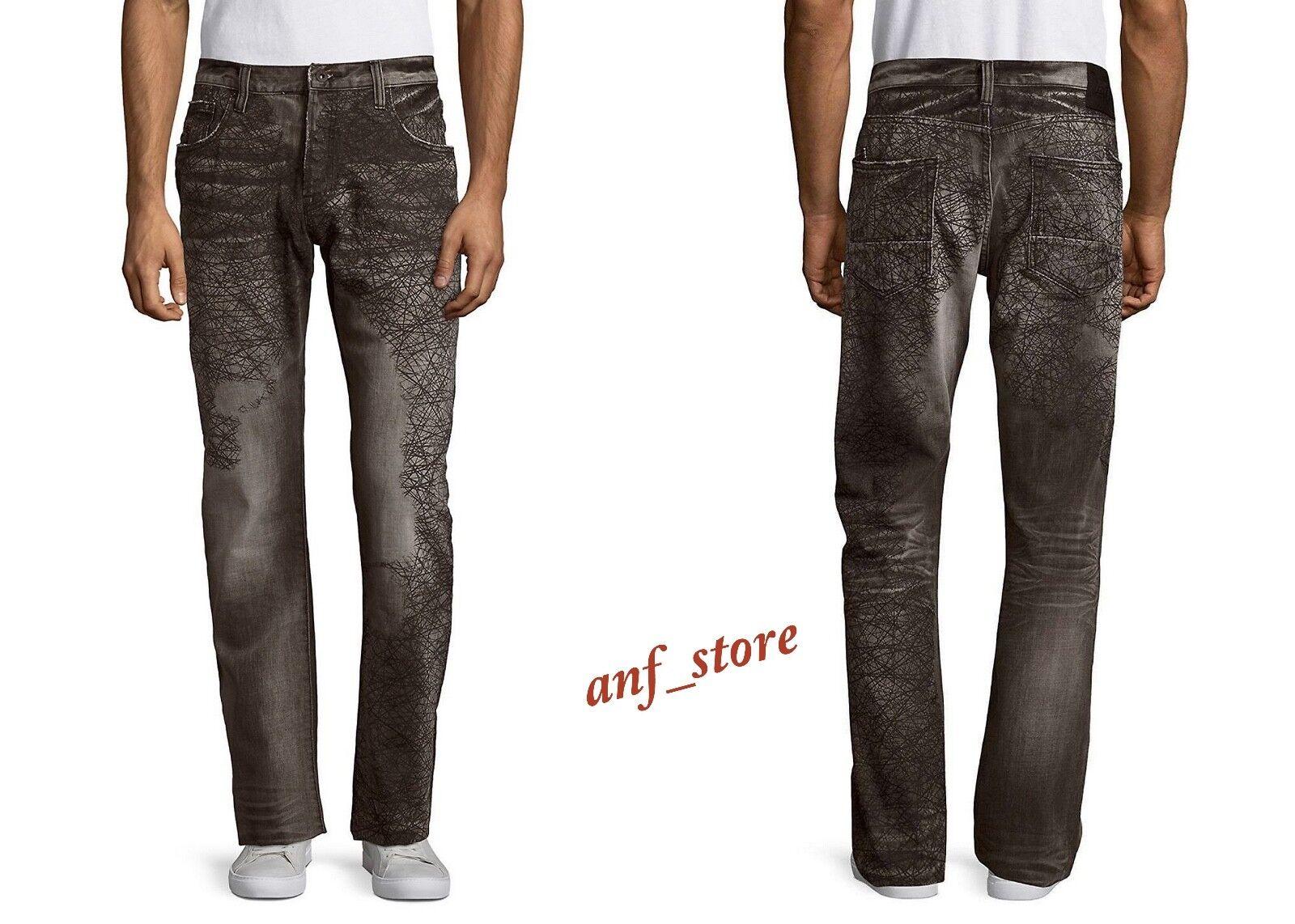 NWT PRPS Goods JAPAN Demon Slim Men Jeans 32 x 32 Faded DISTRESSED