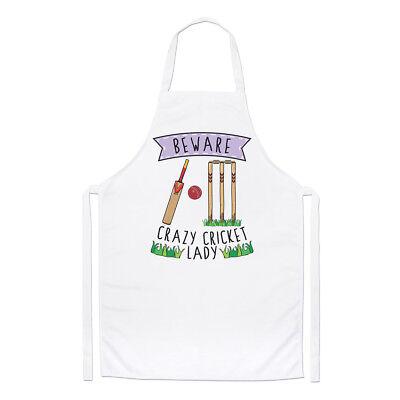 2019 Nuovo Stile Beware Pazzo Cricket Donna Chef Grembiule - Divertente Sport