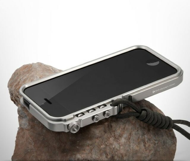 Aluminum Bumper Cases Tactical Edition for iPhone 4 5 S 6 6s 7 plus Lanyard