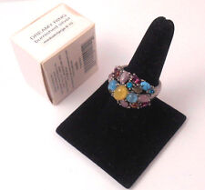 BOLD & BEAUTIFUL AVON MARK DREAMY RING BURNISHED SILVER MED-LG (8-10) NOS 2006