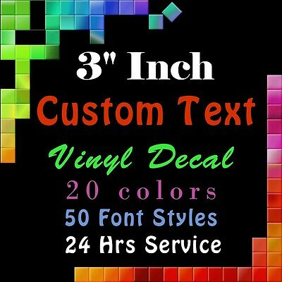 """Personalized sticker decals for you 3/"""" CUSTOM VINYL LETTERING//TEXT"""