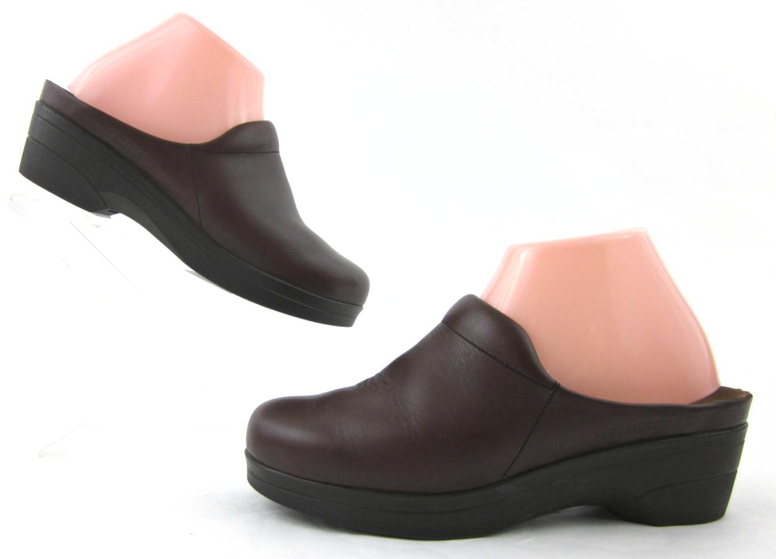 Mephisto Mule Clog Slides Brown Leather EU 38 US 8   MSRP  200+