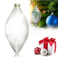 Clear Glass Christmas Tree Garden Hanging Decoration Ornament Ball Bauble Decor