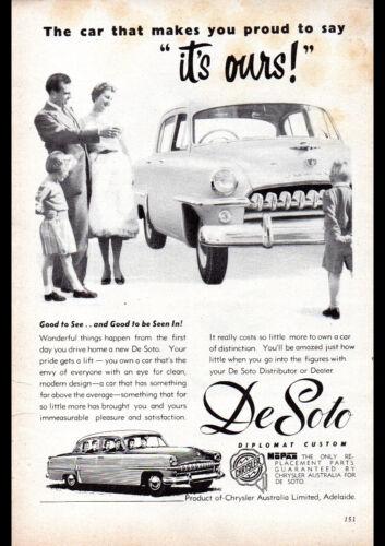"1954 DESOTO DIPLOMAT CUSTOM SEDAN AD A4 POSTER GLOSS PRINT LAMINATED 11.7""x8.3"""