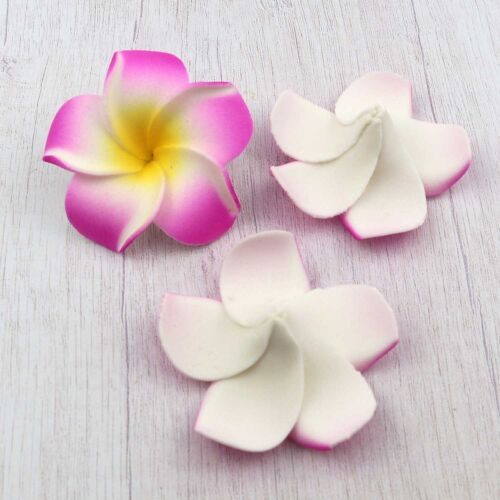 100pcs 6cm Foam Floating Frangipani//Plumeria//Hawaiian Flower Head 10 colors