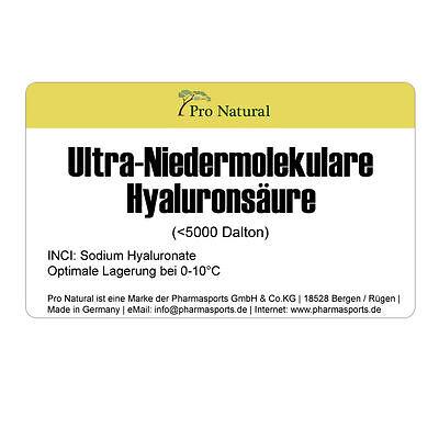 10g Ultra-Niedermolekulare Hyaluronsäure für Creme Gel Faltenbehandlung