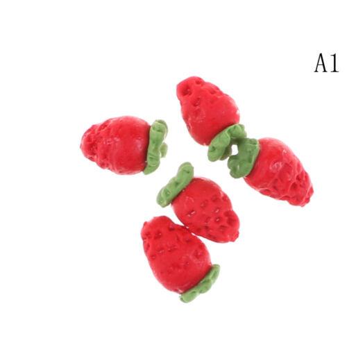 5PCS x  Fruit 1:12 Miniature Dollhouse Doll Handmade Food Supply S/&K