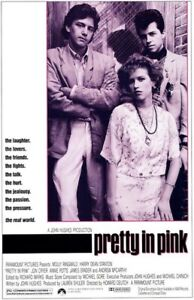 VINTAGE PRETTY IN PINK CLASSIC 24 X 36 MOVIE POSTER