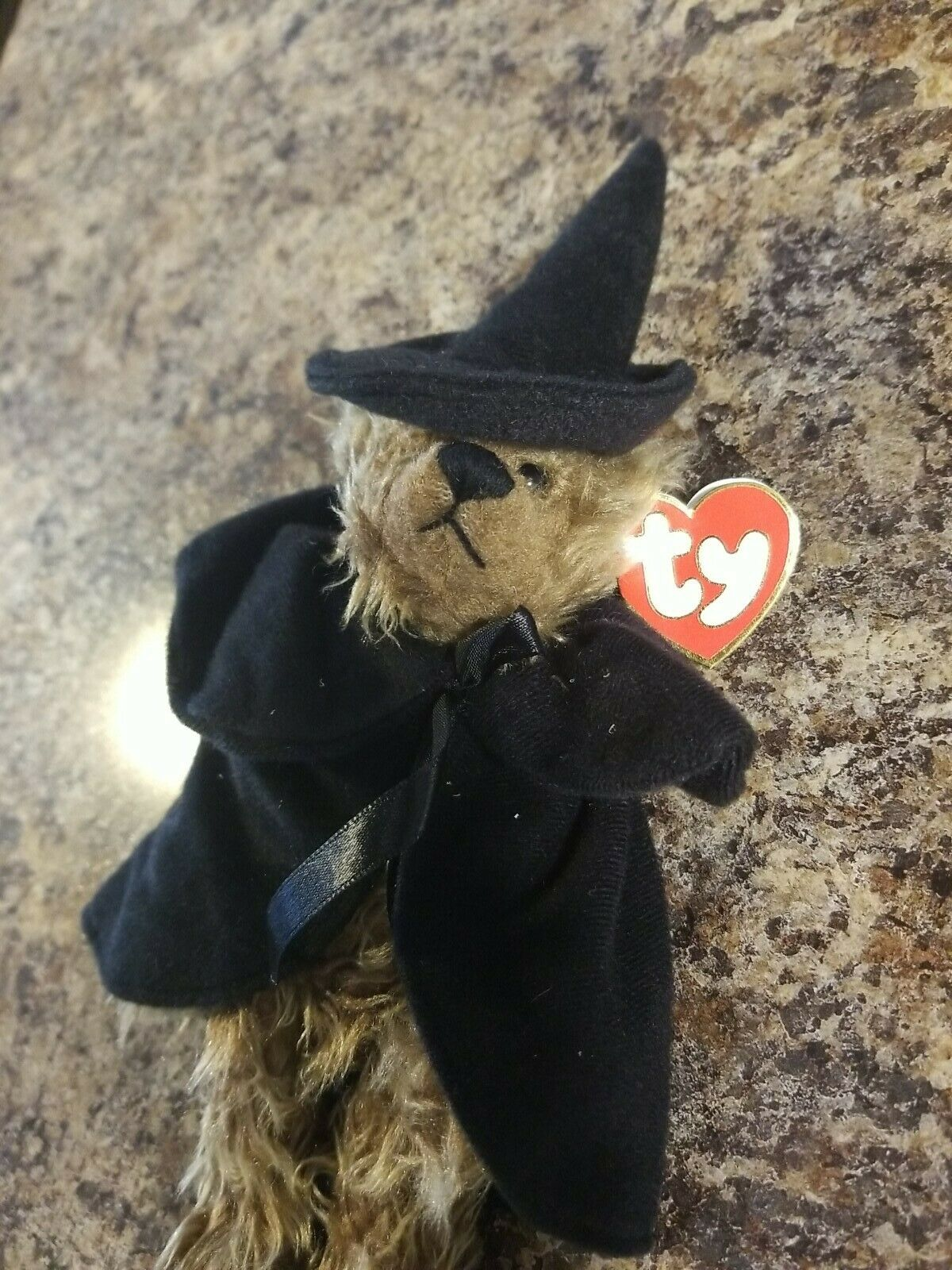with jointed limbs Ty Attic Treasures Esmerelda the witch bear mint w// Tag