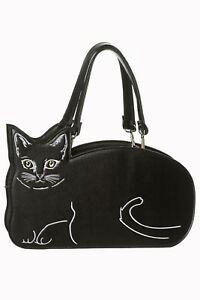 Black Kitty Cat Cute Cat Emo Handbag Shoulder Bag By Banned Apparel ... b433fc8bb0c02