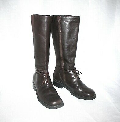 FRONT LACE DETAIL TALL BOOTS SIZE 8M   eBay