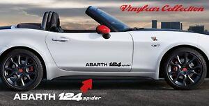ABARTH-124-SPIDER-SIDE-STICKER-VINILO-PEGATINA-FIAT-ADESIVI-AUFKLEBER