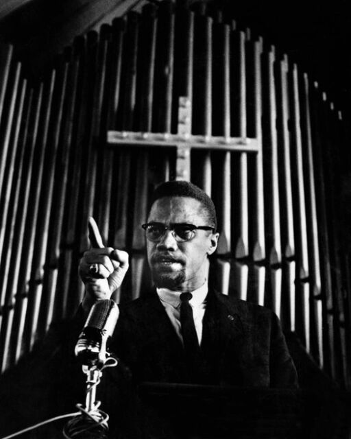Harlem Civil Rights Rally MALCOLM X Glossy 8x10 Photo Print Minister Poster