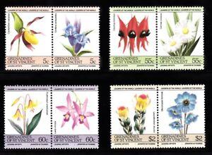 1985 Gren of St V Flowers Set of 4x2 mint stamps - Peterborough, United Kingdom - 1985 Gren of St V Flowers Set of 4x2 mint stamps - Peterborough, United Kingdom