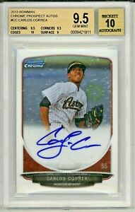 CARLOS-CORREA-2013-Bowman-Chrome-Rookie-Card-RC-Auto-Autograph-BGS-9-5-Gem-Mint