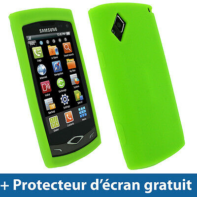 Vert Silicone Etui pour Samsung Wave S8500 Android Smartphone Housse Coque Case