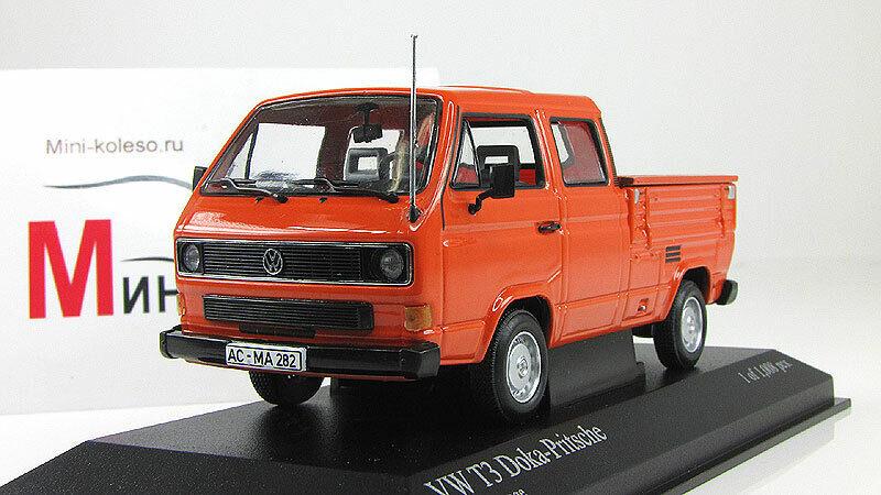 Escala 1  43, Volkswagen T3 doka - Prize - naranja 1983