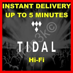Fast Shipping Master Quality Tidal Hi-fi Family Plan 6 Users 30 Days