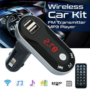 Car-FM-Transmitter-Bluetooth-Hands-free-LCD-MP3-Player-Radio-Adapter-Kit-Charger