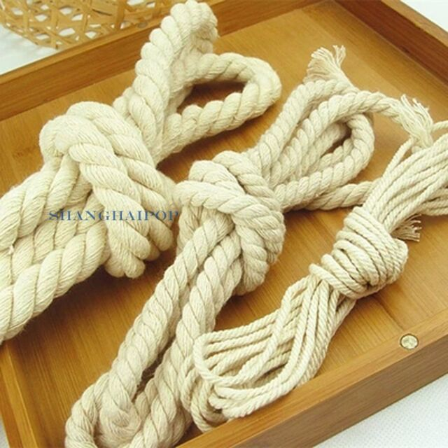 10 Yard Cotton Rope DIY Curtain Tie Back Twisted Twine Braided Cord 3/8/15mm New