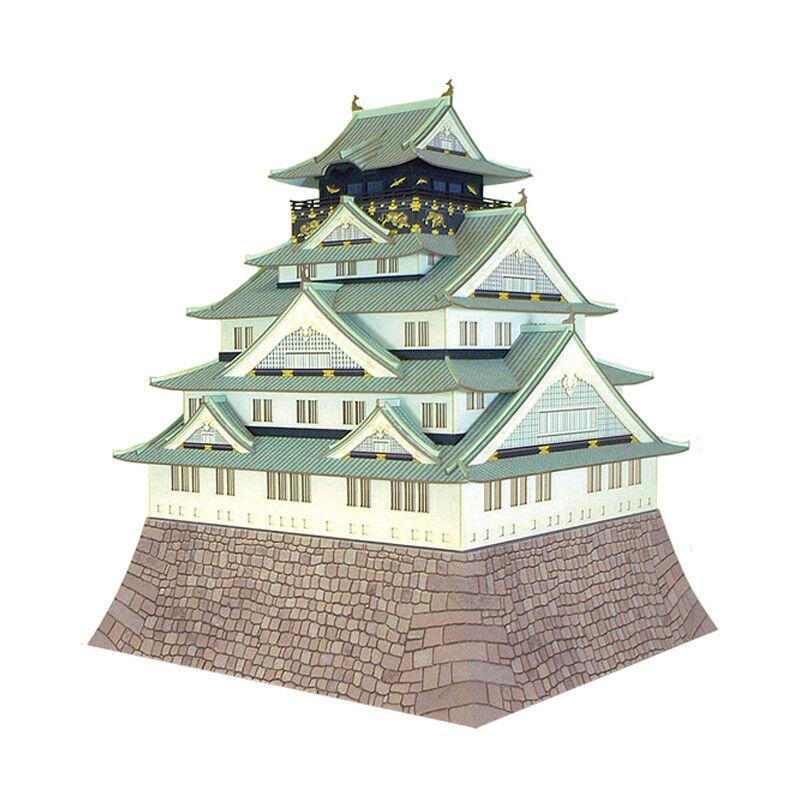 Sankei Mk04-02 Osaka Castillo 1 300 Escala Miniatura Papel Decorativo Decorativo Decorativo Kits  artículos de promoción