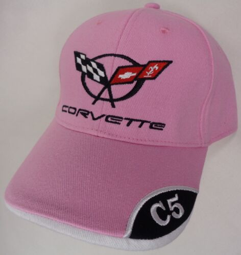 Hat Cap Licensed Chevrolet Chevy Corvette C5 C 5 Corner Pink HR 205
