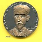 Médaille DOCTEUR ÉMILE ROUX médecin bactériologiste par Devigne bronze 1970