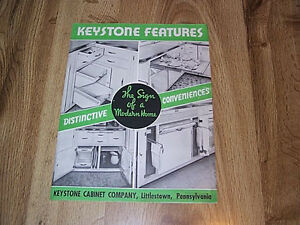 Image Is Loading Keystone Cabinet Company Brochure Littletown Pa Illus 1951