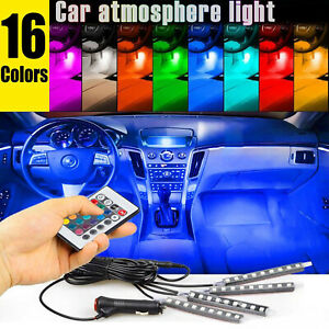 36-LED-4PCS-Car-Interior-Atmosphere-Neon-Lights-Strip-Wireless-IR-Remote-Control