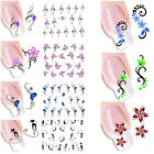 Fashion Water Transfer Slide Decal Sticker Nail Art TipsDecoration 8 Choice