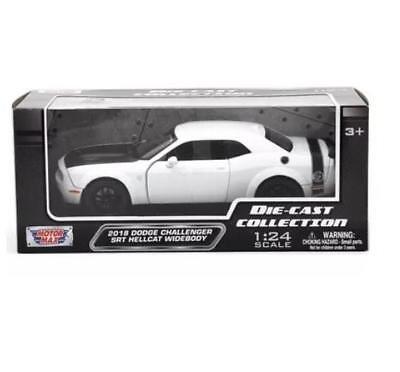 Motormax 1:24 2018 Dodge Challenger SRT Hellcat Widebody Diecast Black 79350 BK
