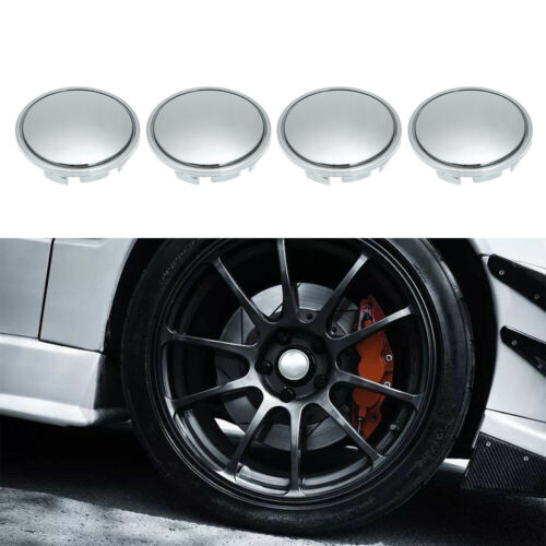 4Pcs//Set 56mm Car Wheel Center Caps Hub Tyre Rim Cover Universal ABS Chrome Y2J7