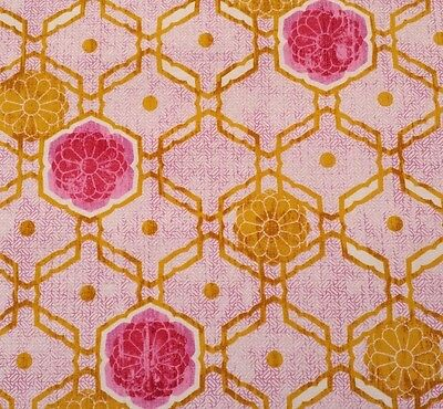 Medallion in Brown Impressions Collection Designer Fabric by Ty Pennington