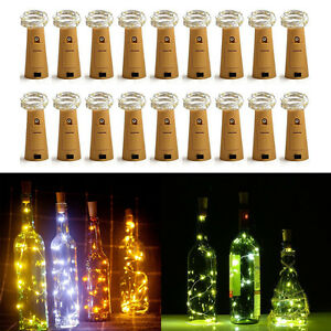 Details About Wholesale 20leds Cork Shaped Fairy String Lights Wine Bottle Lamp Decor Diy 2m