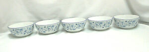 Pfaltzgraff-Blue-Meadows-Smooth-Set-of-5-Soup-Cereal-Bowls-S9253
