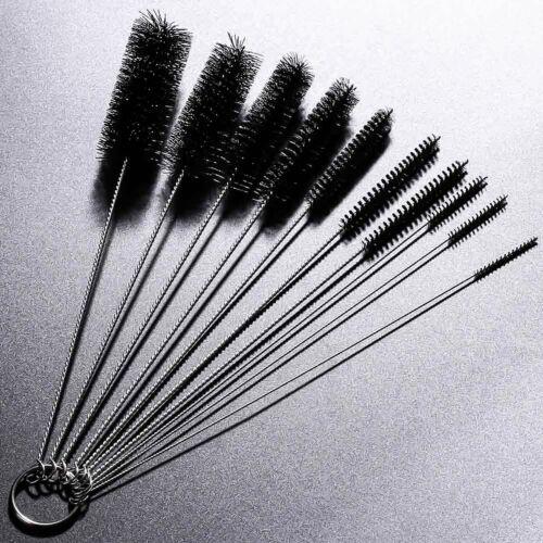 10Pcs Set Nylon Straw Brush Cleaner Bottle Tube Pipe Small Long Cleaning Tools